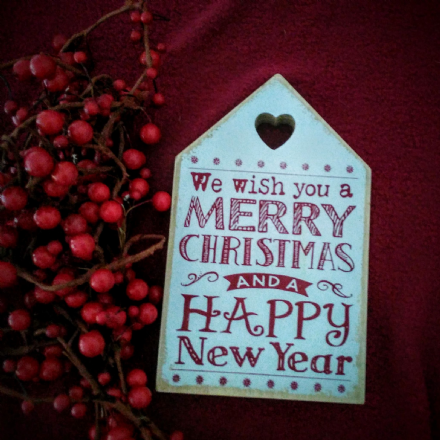 Wooden We Wish You A  Merry Christmas Sign (red or white)